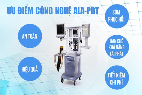 Phương pháp ALA-PDT điều trị sùi mào gà